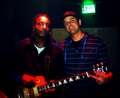 Ras backstage with Al Anderson (Original Guitarist for Bob Marley and the Wailers)