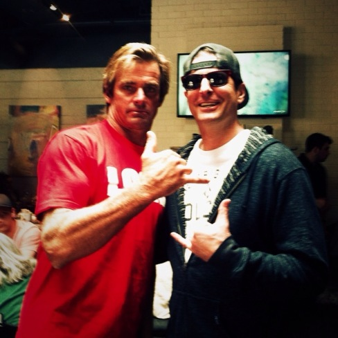 Surf legend Laird Hamilton and Ras from Headshine