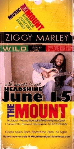Ziggy Marley with special guest Headshine @ Mt. Laurel Perfoming Arts Center in Pennsylvania