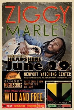Ziggy Marley with special guest Headshine at Newport Rhode Island Yatching Center