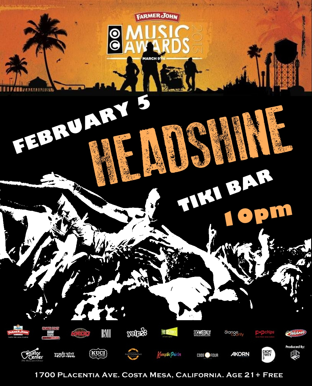 Headshine nominated for 2013 OC Music Awards