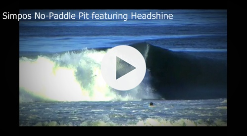 "Check out ""Simpos No-Paddle Pit"" surf video featuring Headshine"